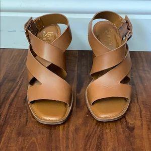 Franco Sarto chunky heel square toe sandals